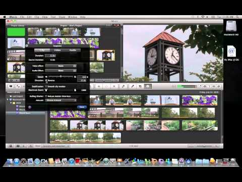 iMovie 11: Playing a Clip Backwards