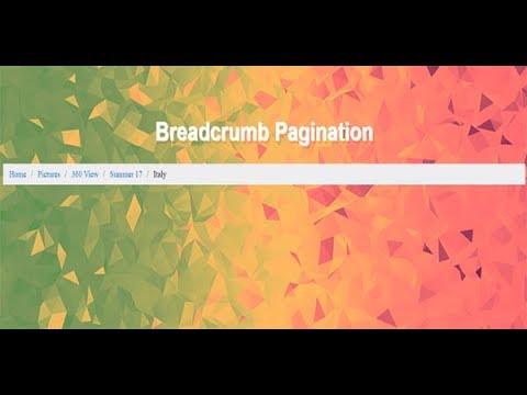 How To Make Breadcrumbs, Breadcrumb Demo, Breadcrumbs Website