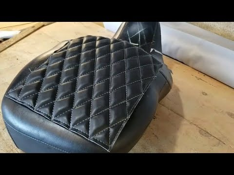Making diamonds for a motorcycle seat. DIY