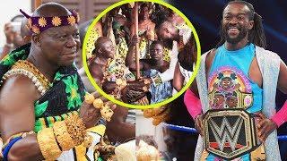 WWE Champion Kofi Kingston visits Otumfour Osei Tutu @ Manhyia & Delivers Title