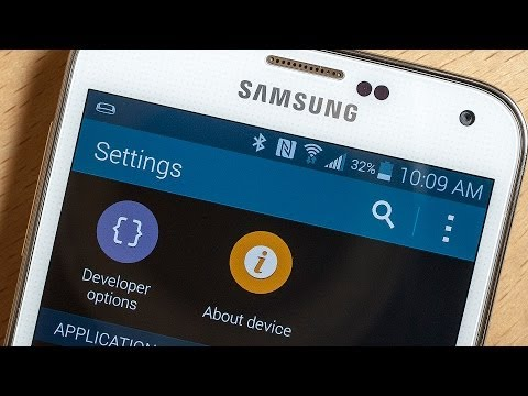 How to enable developer options on the Samsung Galaxy S5