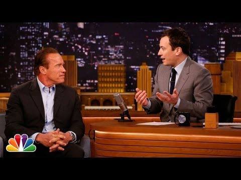 Arnold Schwarzenegger Takes Jimmy to Cigar School