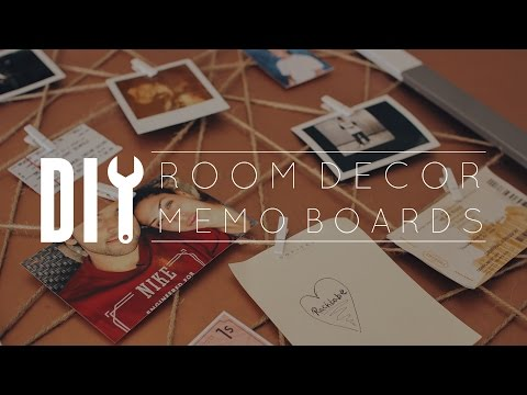 DIY Room Decor Memo Board // Subscriber Request