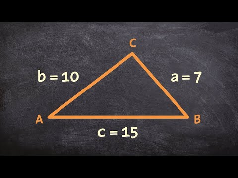 How to use law of cosines to find the missing angles of a triangle given SSS