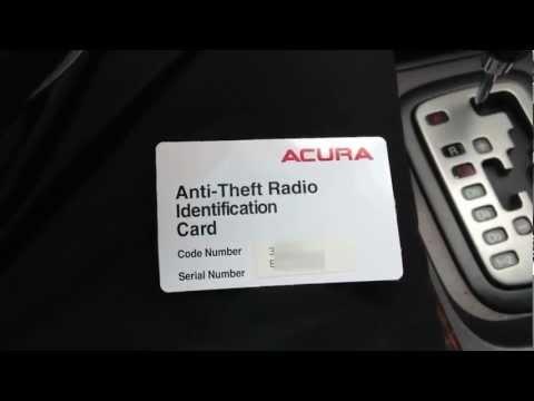 How to Reset Acura Anti Theft Radio & Retrieve Serial Number Code