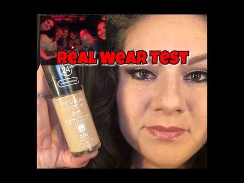 REVLON COLORSTAY FOUNDATION WEAR TEST