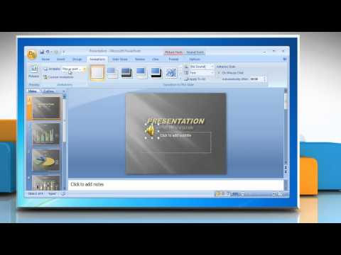 How to Play Sound continuously in Microsoft® PowerPoint 2007 presentation