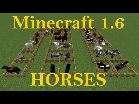 Minecraft 1.6 Horse colors and breeds tutorial