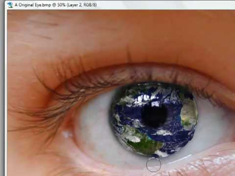 Replace The Eye's Iris With A Picture With Photoshop CS2