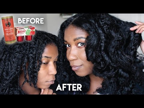 DIY Protein Hair Mask w. Gelatin - Shiny Strong Natural Hair