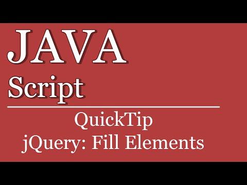 Quicktip #12 - jQuery Element befüllen | JavaScript | HTML | jQuery