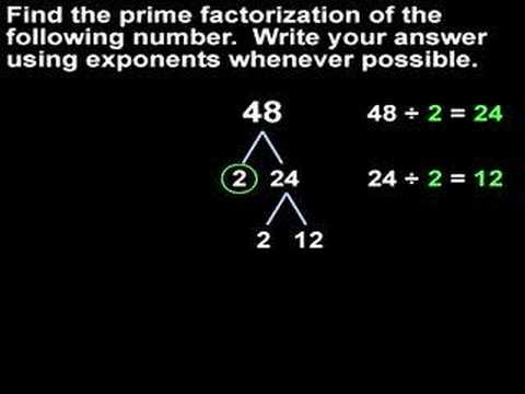 Prime Factorization - MathHelp.com - Math Help