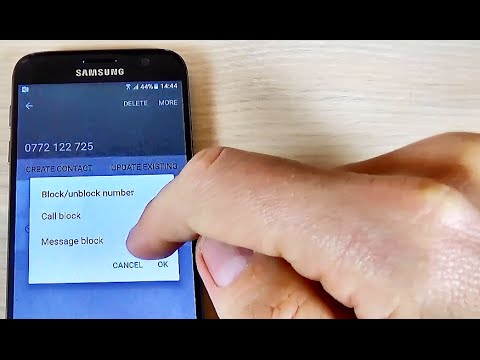 Samsung Galaxy S7, S7 edge - How to Block a Call Number or a Phone Book Contact