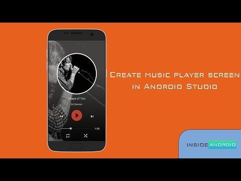 Music Player Screen in Android Studio