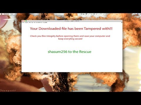How to check the File integrity of downloaded Files on Mac! Shasum 256 tutorial