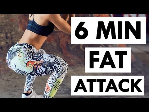 Get A Flat Stomach, Bigger Butt & Lean Thighs | 6 Minute Full Body Workout at Home (FAT BLASTER)