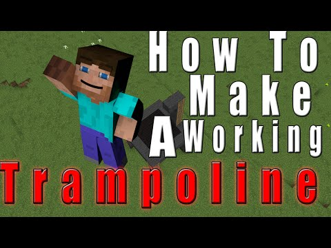 Minecraft - How to make a Trampoline