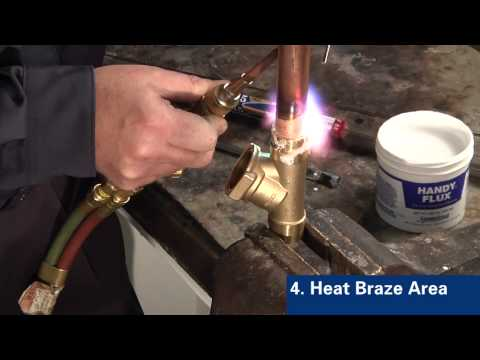 Brazing Copper to Brass with Sil-Fos®