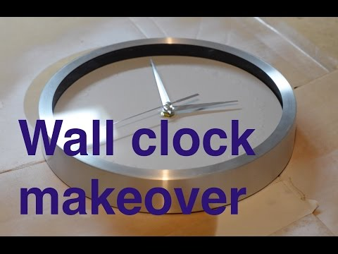 MiniProject. Wall clock face makeover.