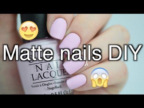 DIY matte nails without top coat