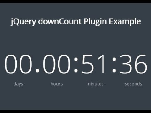 html countdown section making tutorial ( 2018 )