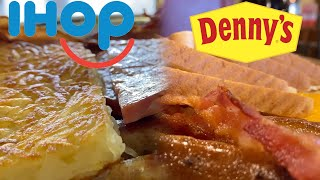 IHOP vs Denny's Taste Test | BREAKFAST BATTLE