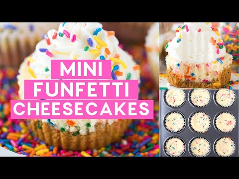 Mini Funfetti Cheesecakes