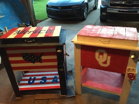 How to Build a Wooden Ice Chest Cooler Box