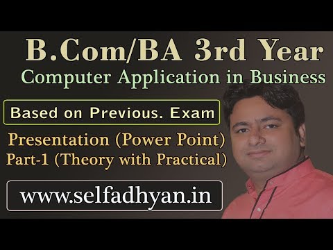 #1 Presentation - Theory With Practical  Based Exam Question - BCOM 3rd Year - Computer Application