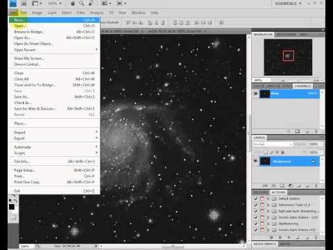 Convert Gray Images Into RGB Color - Photoshop Astrophotography