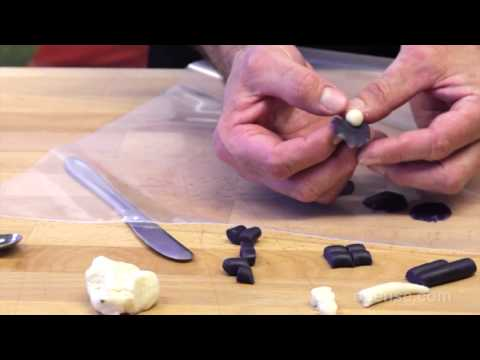 How to Make Marzipan Violets