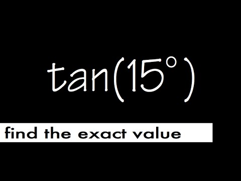 exact value for tan(15), using difference formula for tangent
