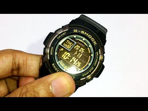 CASIO G-SHOCK G-7710 Disassembly and battery change