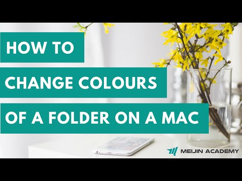 How To Change Colours Of Folders On A Mac