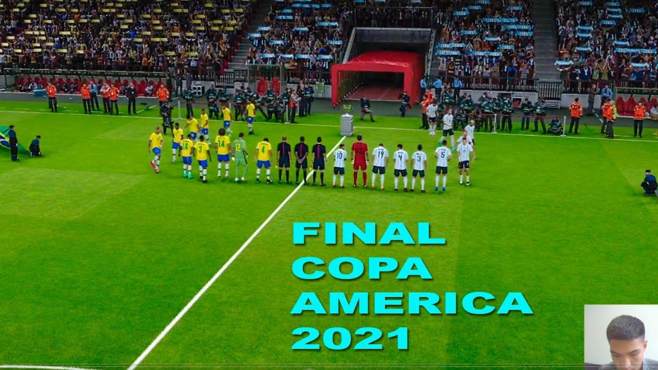 PES - ARGENTINA vs BRAZIL COPA AMERICA 2021 FINAL - Full match HD efootball gameplay