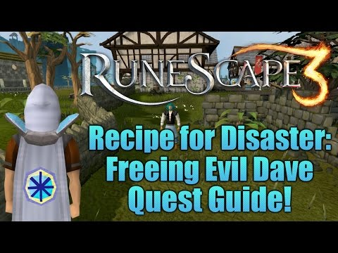 Runescape 3: Freeing Evil Dave - Recipe for Disaster Quest Guide!