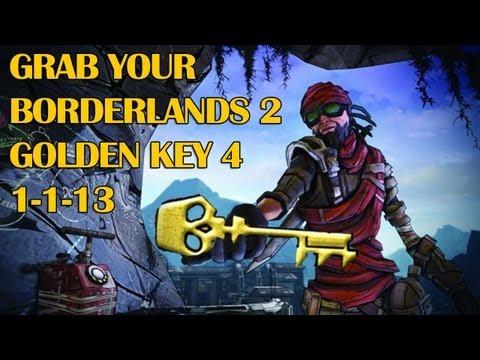 BorderLands 2 GOLDEN KEY SHIFT CODES FOR 1-1-13