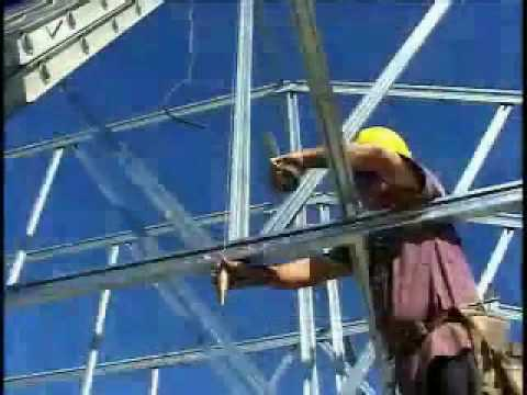 Truss Installation with Cold Formed Steel Trusses