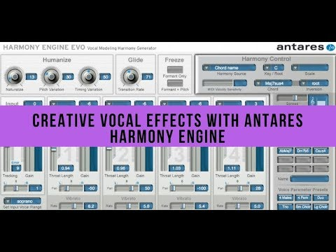 Creative Vocal Effects with Antares Harmony Engine