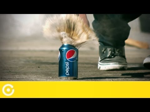Awesome Slow Motion Eyecandy: Exploding Soda Cans