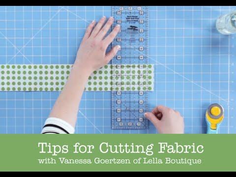 How to Cut Fabric - Lella Boutique - Fat Quarter Shop