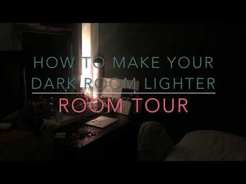 HOW TO MAKE YOUR DARK ROOM LIGHTER   ROOM TOUR   CHILDOGOD
