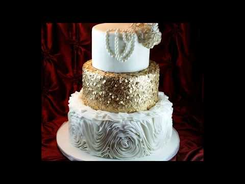 Creating a Sequin Cake with Icing Sheet Scraps!