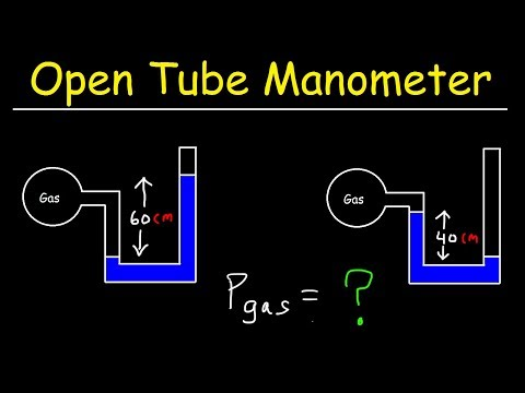Open Tube Manometer, Basic Introduction, Pressure, Height & Density of Fluids - Physics Problems