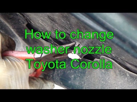 How to change washer nozzle Toyota Corolla