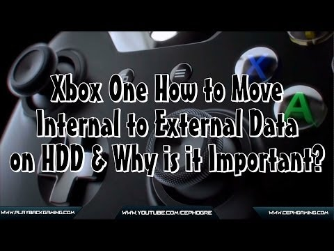 Xbox One - How to Move Internal to External Data on HDD & Why is it Important?