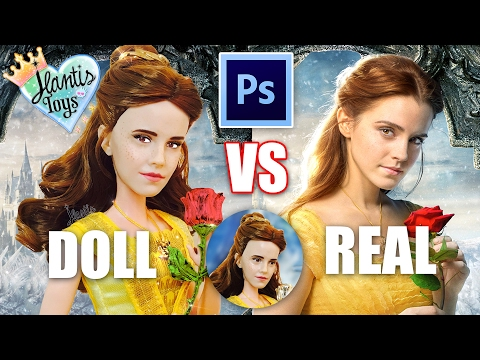 How to Edit Doll Photo & Pictures - Basic Photoshop Editing Tutorial   Disney Belle Vs Emma Watson