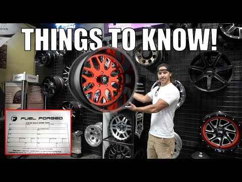 Ordering Custom Forged Wheels!
