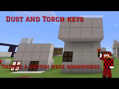 Minecraft pe [redstone tutorial 1.0] [Torch key] [Dust key]