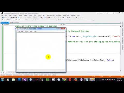 Project My Notepad Part 3 in VB NET 2012